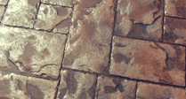 Photo showing Ashler Slate Old Granite stamped concrete