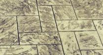 Photo showing Grande Ashler Slate stamped concrete